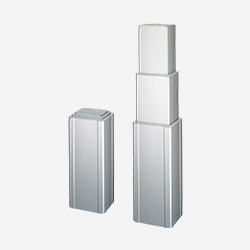 The TL3 column is made of three extruded, rectangular, aluminum tubes